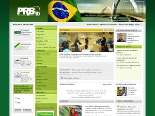 Thumbnail do site Partido Republicano Brasileiro (PRB)