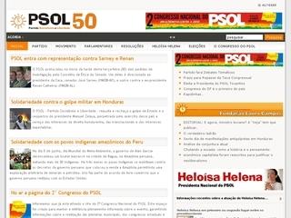 Thumbnail do site Partido Socialismo e Liberdade (PSOL)