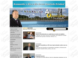Thumbnail do site Liderança da Minoria na Assembléia Legislativa