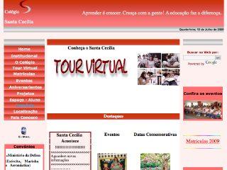 Thumbnail do site Colégio santa Cecília