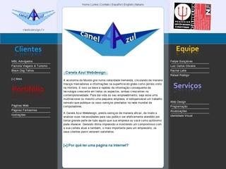 Thumbnail do site Canela Azul Webdesign