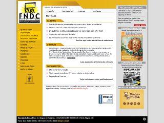 Thumbnail do site Forum Nacional Pela Democratização da Comunicação