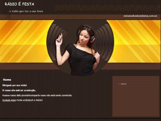 Thumbnail do site Rádio é Festa