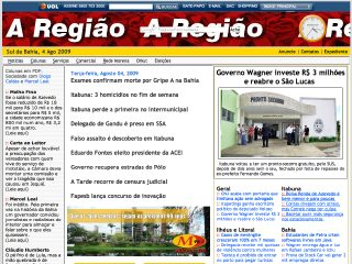 Thumbnail do site A Região
