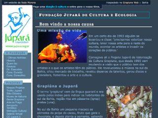 Thumbnail do site Fundação Jupará de Cultura e Ecologia