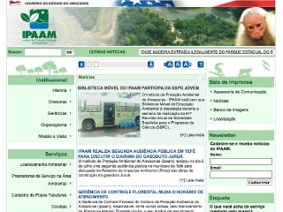 Thumbnail do site IPAAM - Instituto de Proteção Ambiental do Estado do Amazonas